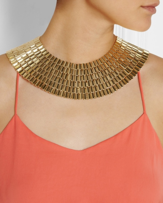 Gold Dipped Cleopatra necklace by Rosantica