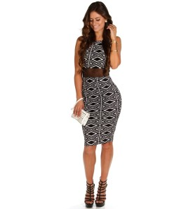 Printed Dress Large