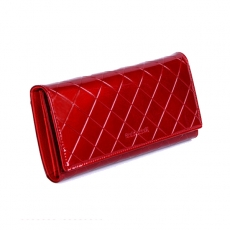 Red Leather Classic Clutch