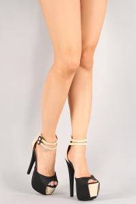 Two tone shoes stillettos