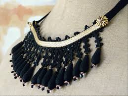Gold and black necklace