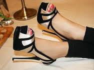 Gold and Black Stilleto;