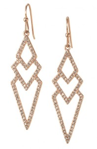 Pavé Spear Earrings - Rose Gold
